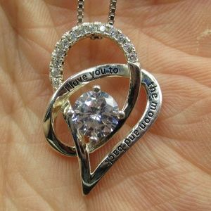 """Jewelry - 19"""" I Love You To The Moon And Back Necklace"""